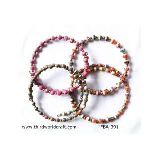 Paper Bead Bracelets FBA-391