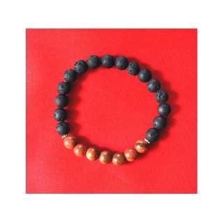 Lava Bead Bracelets with Onyx FBA-404