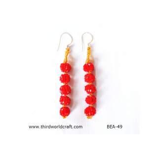 Glass Bead Earring BEA-49