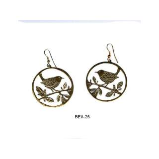 Brass Bird Earring BEA-25
