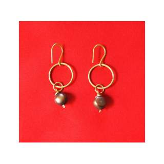 Brass Fashion Earring GSE-155