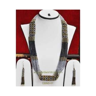 Bead Necklace Earring set GBNS-01