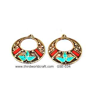 White Metal Earring GSE-34