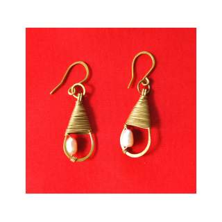Brass Wire Fashion Earring GSE-158